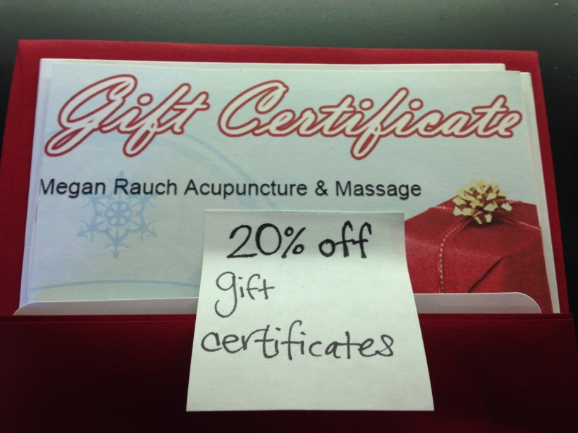 Happy Holidays!  Gift Certificates 20% Off!
